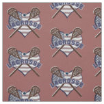 Lacrosse Fabric with Heart Shaped Flag