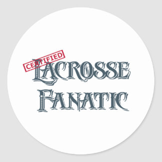 Lacrosse Fanatic Classic Round Sticker