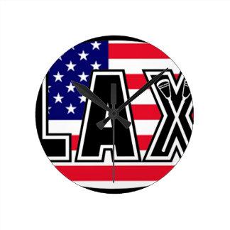 Lacrosse Flag America Wallclocks