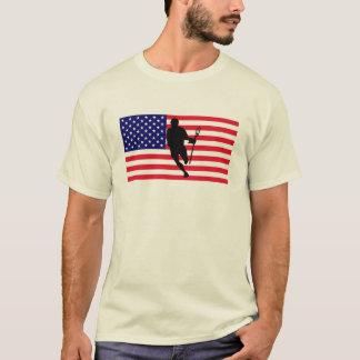 Lacrosse Flag IRock America T-Shirt