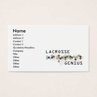 Lacrosse Genius Business Card