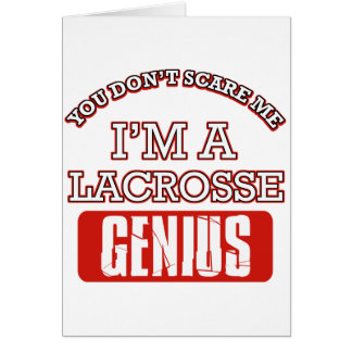 lacrosse genius greeting cards