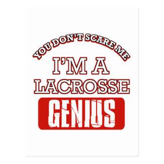 lacrosse genius post card