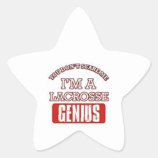 lacrosse genius star stickers