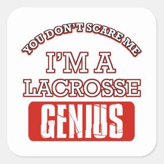 lacrosse genius sticker