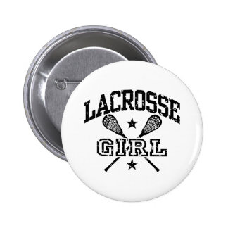 Lacrosse Girl 2 Inch Round Button