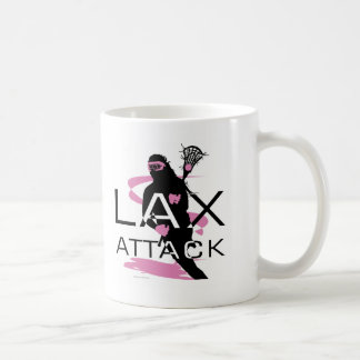Lacrosse Girls LAX Attack Pink Coffee Mug