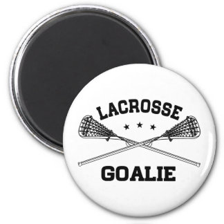 Lacrosse Goalie 2 Inch Round Magnet