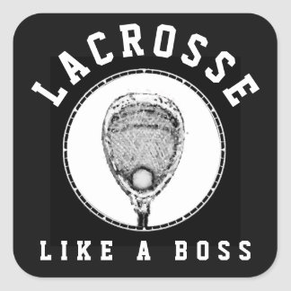 Lacrosse Goalie Square Sticker