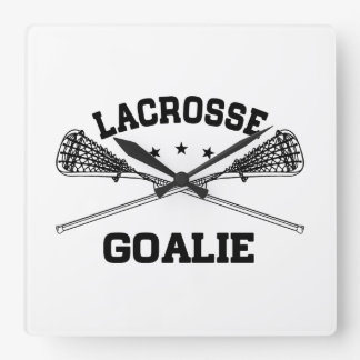 Lacrosse Goalie Square Wall Clock