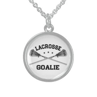 Lacrosse Goalie Sterling Silver Necklace