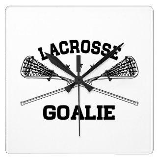 Lacrosse Goalie Wallclocks
