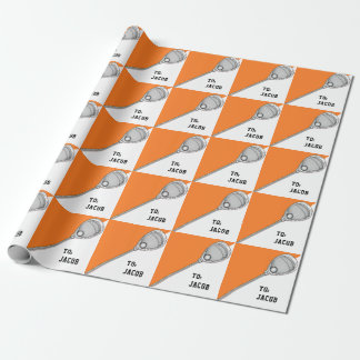 Lacrosse Goalie Wrapping Paper