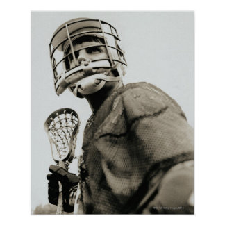 Lacrosse Goalkeeper Poster