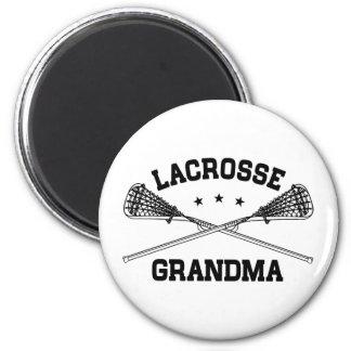 Lacrosse Grandma 2 Inch Round Magnet