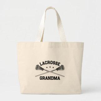 Lacrosse Grandma Large Tote Bag