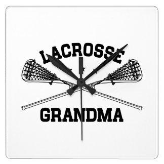 Lacrosse Grandma Square Wall Clock