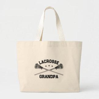 Lacrosse Grandpa Large Tote Bag