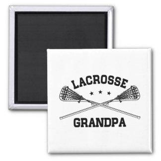 Lacrosse Grandpa Square Magnet