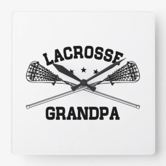 Lacrosse Grandpa Square Wall Clock
