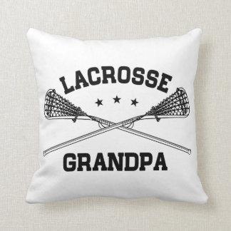 Lacrosse Grandpa Throw Pillow