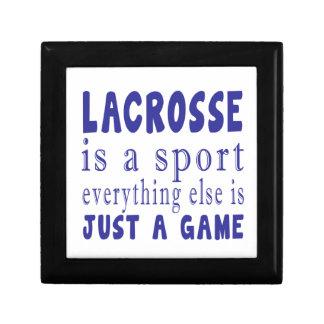 LACROSSE JUST A GAME KEEPSAKE BOXES