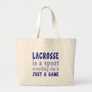 LACROSSE JUST A GAME LARGE TOTE BAG