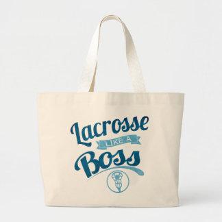 lacrosse Like A Boss Large Tote Bag