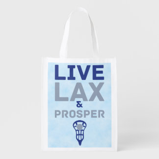 Lacrosse Live LAX and Prosper Reusable Grocery Bag
