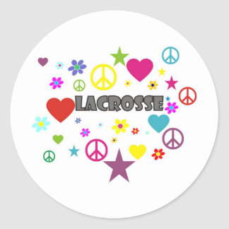 Lacrosse Mixed Graphics Classic Round Sticker