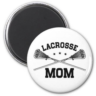 Lacrosse Mom 2 Inch Round Magnet