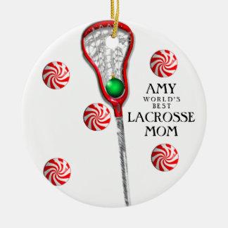 Lacrosse Mom Ceramic Ornament