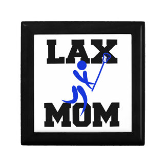 Lacrosse Mom in Blue Keepsake Boxes