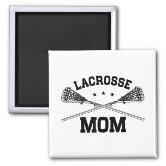 Lacrosse Mom Square Magnet