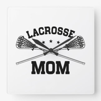 Lacrosse Mom Square Wall Clock