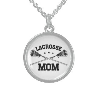 Lacrosse Mom Sterling Silver Necklace