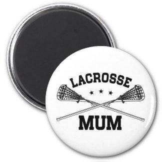 Lacrosse Mum 2 Inch Round Magnet
