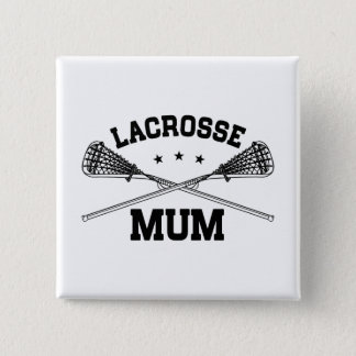 Lacrosse Mum 2 Inch Square Button