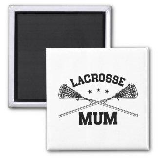Lacrosse Mum Square Magnet