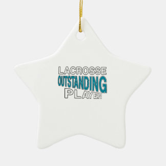 LACROSSE OUTSTANDING PLAYER CERAMIC ORNAMENT
