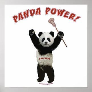 Lacrosse Panda Power Poster