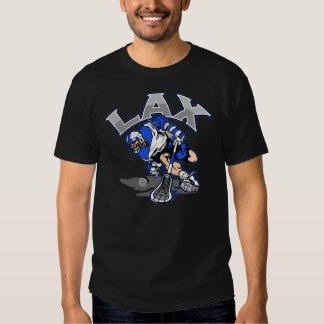 Lacrosse Player Blue Uniform Shirts