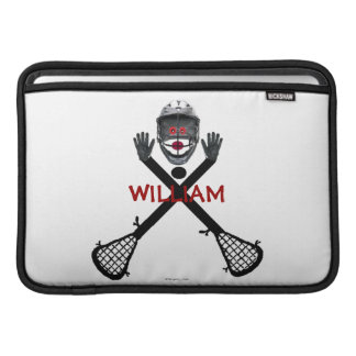 Lacrosse Player Cartoon Sleeve For MacBook Air