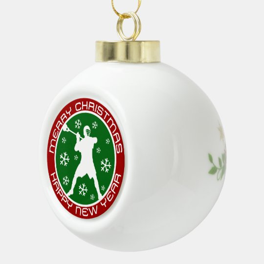 Lacrosse Player Christmas Ornament