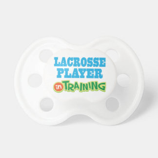 Lacrosse Player In Training Baby Pacifier Soother