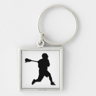 Lacrosse Player Keychain