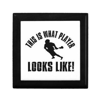 Lacrosse Player Looks Like Keepsake Box