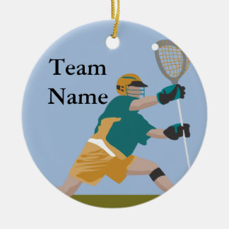 lacrosse player ornament