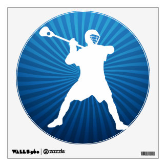 Lacrosse Player Wall Sticker