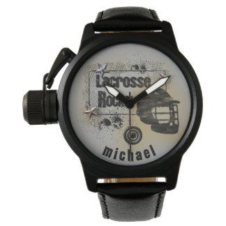 Lacrosse Rocks! Personalized Watch